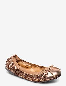 glitter ballerina - ballerinaer og slip-ons - peach