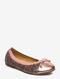 glitter ballerina - ballerinaer og slip-ons - rosegold