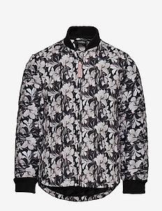 Thermal jacket - BLK FLOWER