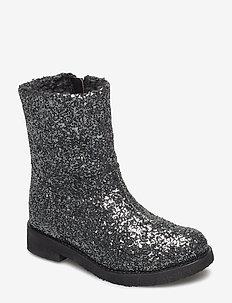 Glitter boot - laarzen - antracite