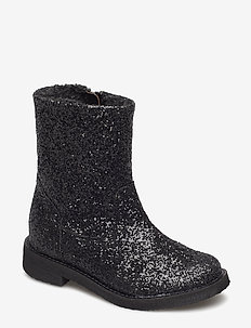 Glitter boot - støvler - black
