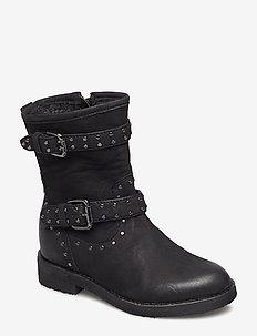 Boot w. studs - støvler - black