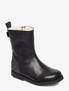 Boot w. TEX glitter - winterlaarzen - black