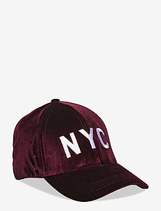 Cap velour - czapki - dark red