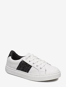 Sneaker w glitter - sneakers - white
