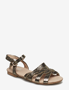 Sandal braid - sandals - gold