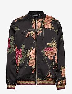 Bomber jacket - AOP FLOW BLK