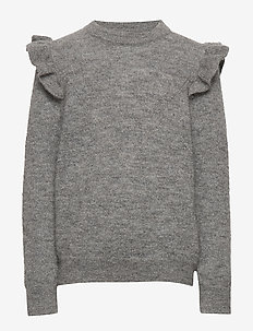 Knit blouse - GREY MEL