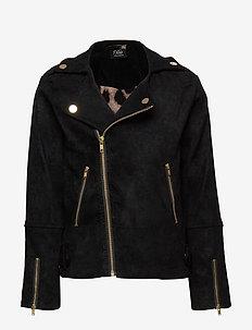 Jacket - læderjakker - black