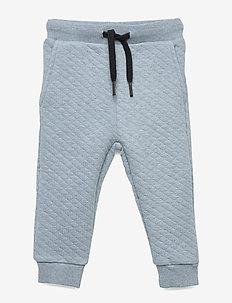 Pants - sweatpants - light blue melange