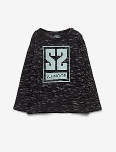 T-shirt LS - long-sleeved t-shirts - black mix