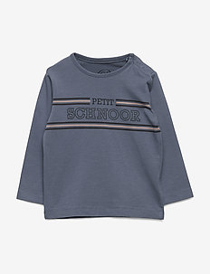 T-shirt LS - langærmede t-shirts - washed dusty blue