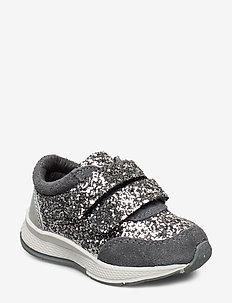 Shoe Velcro glitter - GREY
