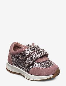 Shoe Velcro glitter - ROSE