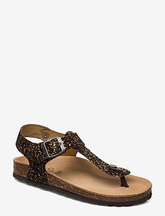 Sandal glitter - sandals - brown