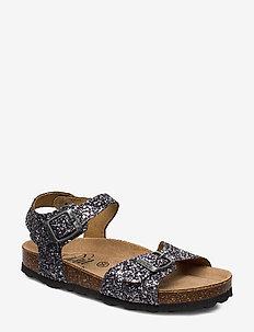 Sandal glitter - sandals - antique silver