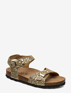Sandal glitter - sandals - champagne