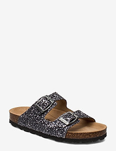 Sandal glitter - sandals - antique silver