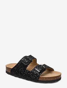 Sandal glitter - sandals - black
