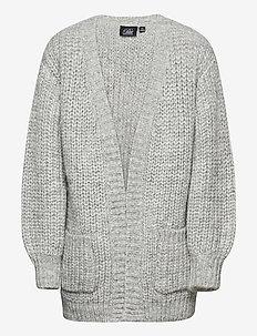 Knit Cardigan - kardigany - grey melange