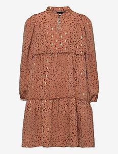 Dress - jurken - rosy brown