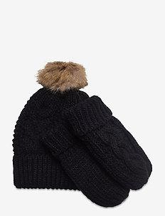 Beanie set - hoed - black