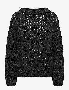 Sweater - knitwear - black