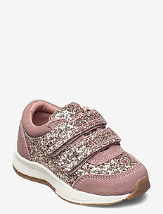 Shoe Velcro glitter - niedriger schnitt - rose