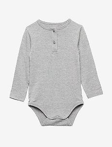 Body - long-sleeved - grey melange