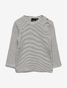 T-shirt - langærmede t-shirts - off-white/black