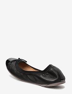 Leather ballerina - ballerinaer og slip-ons - black