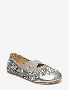 Indoors shoe - glitter - instappers - silver
