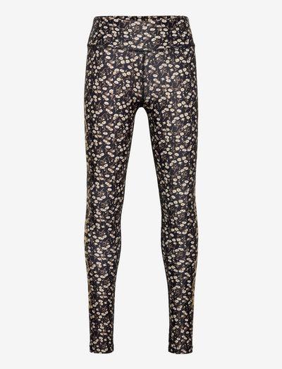 Leggings - leggings - black flower