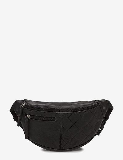 Leather bum bag - taschen - black