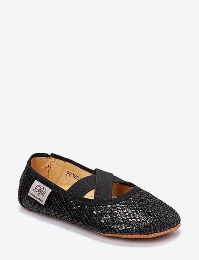 Indoors shoe - glitter - hausschuhe - black