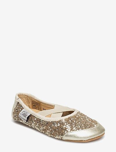 Indoors shoe - glitter - hausschuhe - champagne