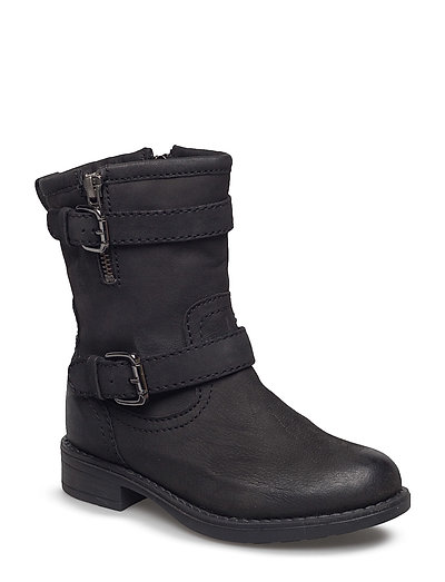 Boot w. buckles - BLACK