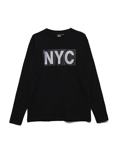 T-shirt long sleeve NYC - BLACK