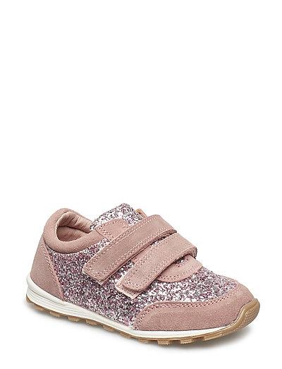Shoe Velcro glitter - DUSTY ROSE