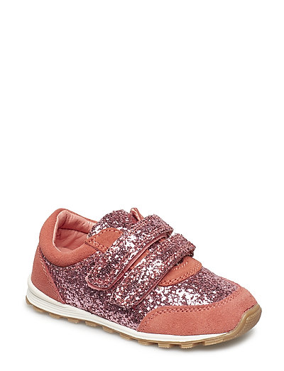 Shoe Velcro glitter - CORAL