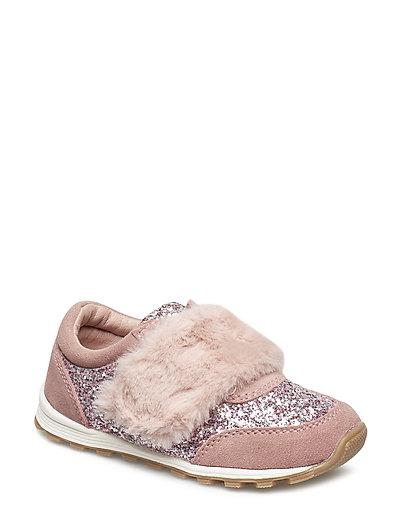 Shoe fur glitter - DUSTY ROSE