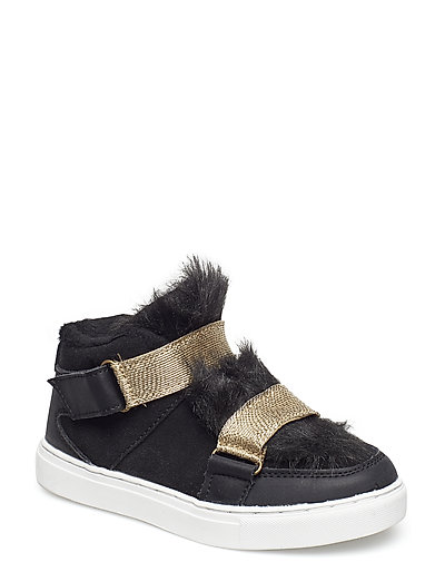 Boot with fur - BLACK