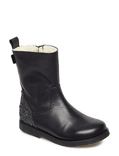 Boot w. TEX glitter - BLACK