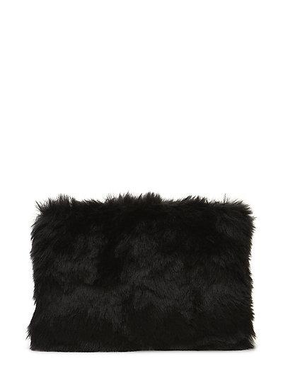 Bag fake fur - BLACK