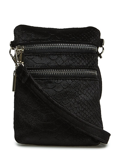 Bag cross velvet - BLACK