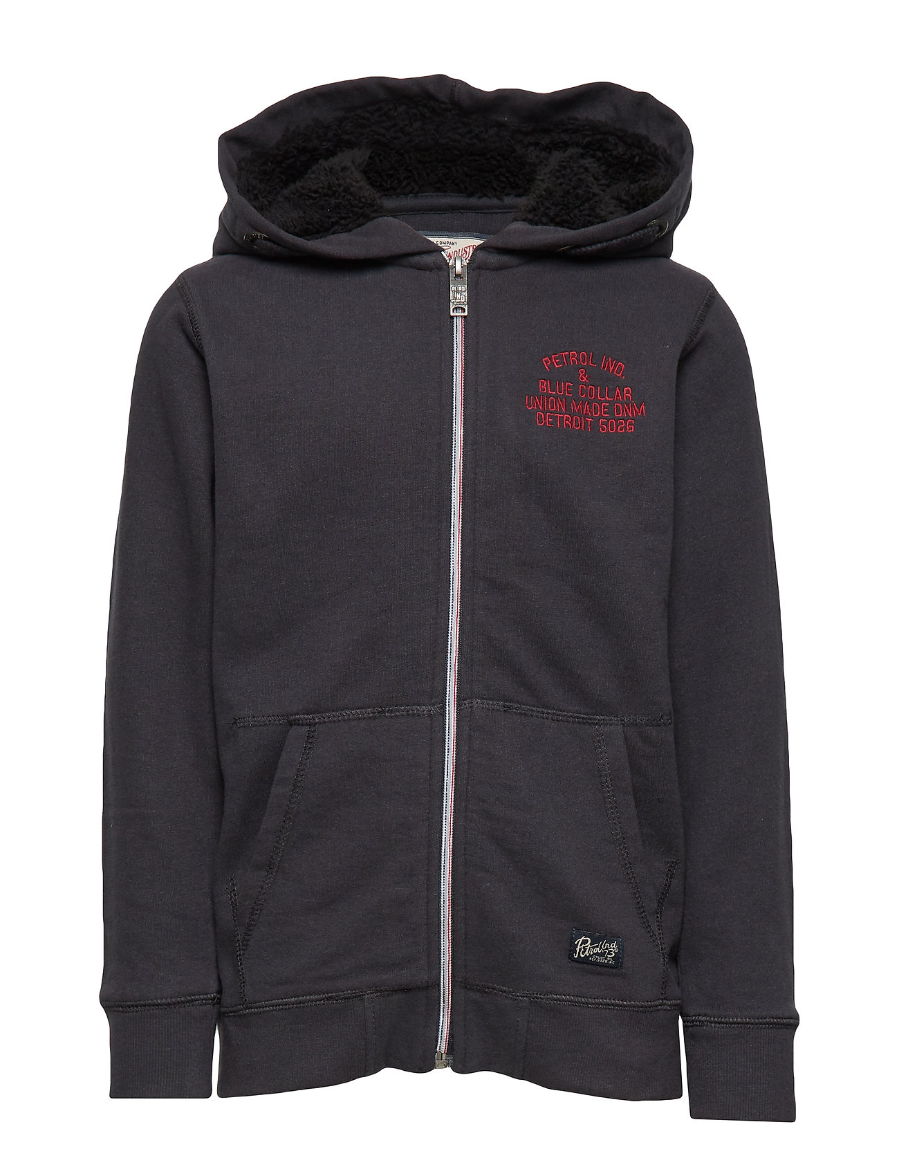 Petrol Sweater Hooded - BLACK NAVY