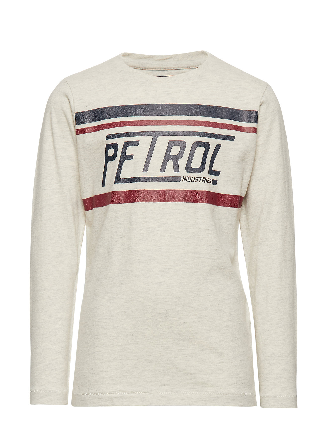 Petrol T-Shirt LS R-Neck - ANTIQUE WHITE MELEE