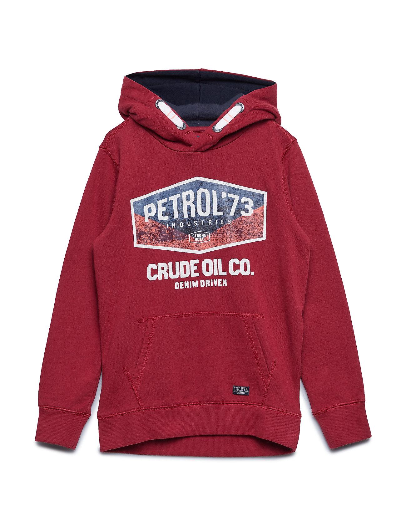 Petrol Sweater Hooded - MAROON