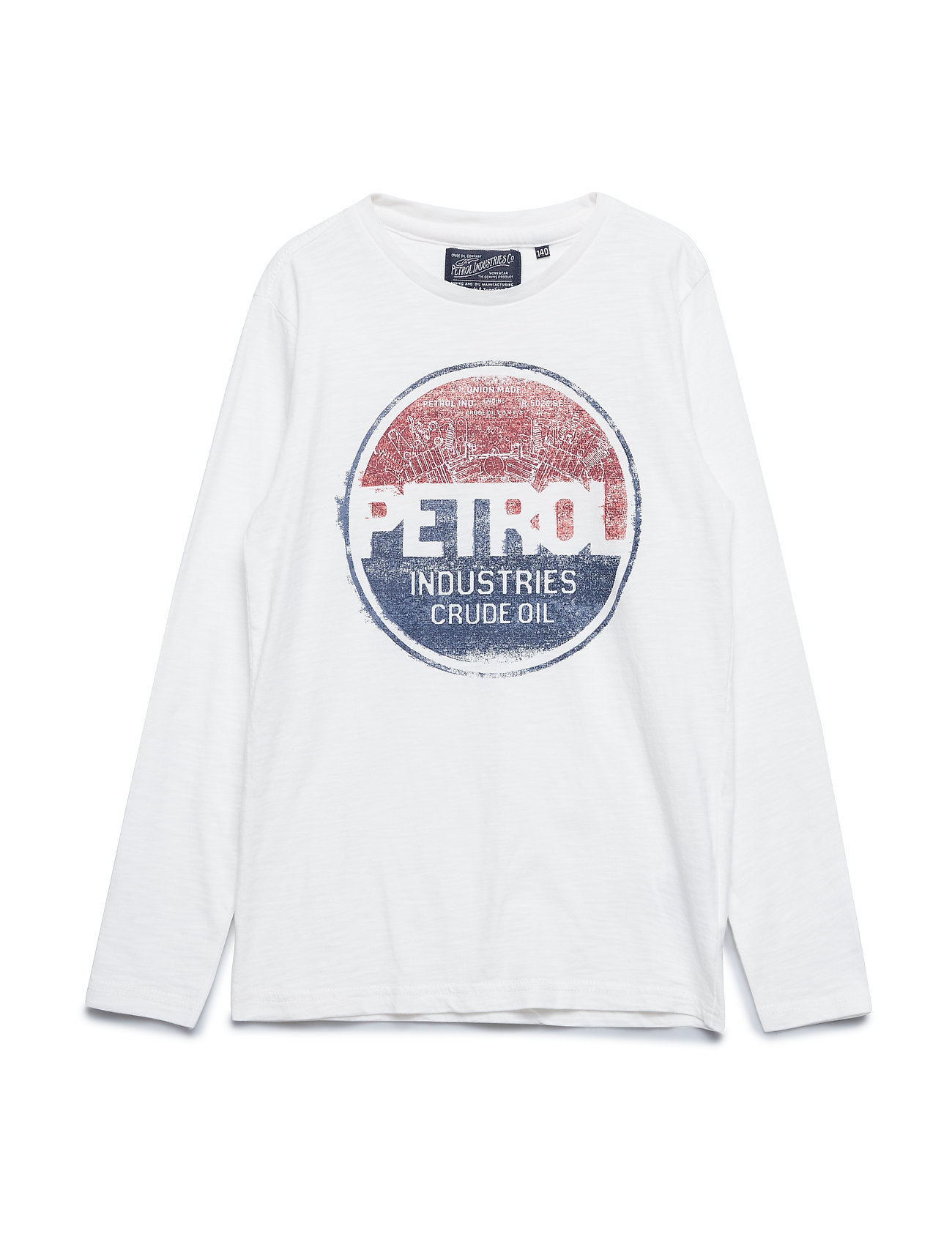 Petrol T-Shirt LS R-Neck - ANTIQUE WHITE
