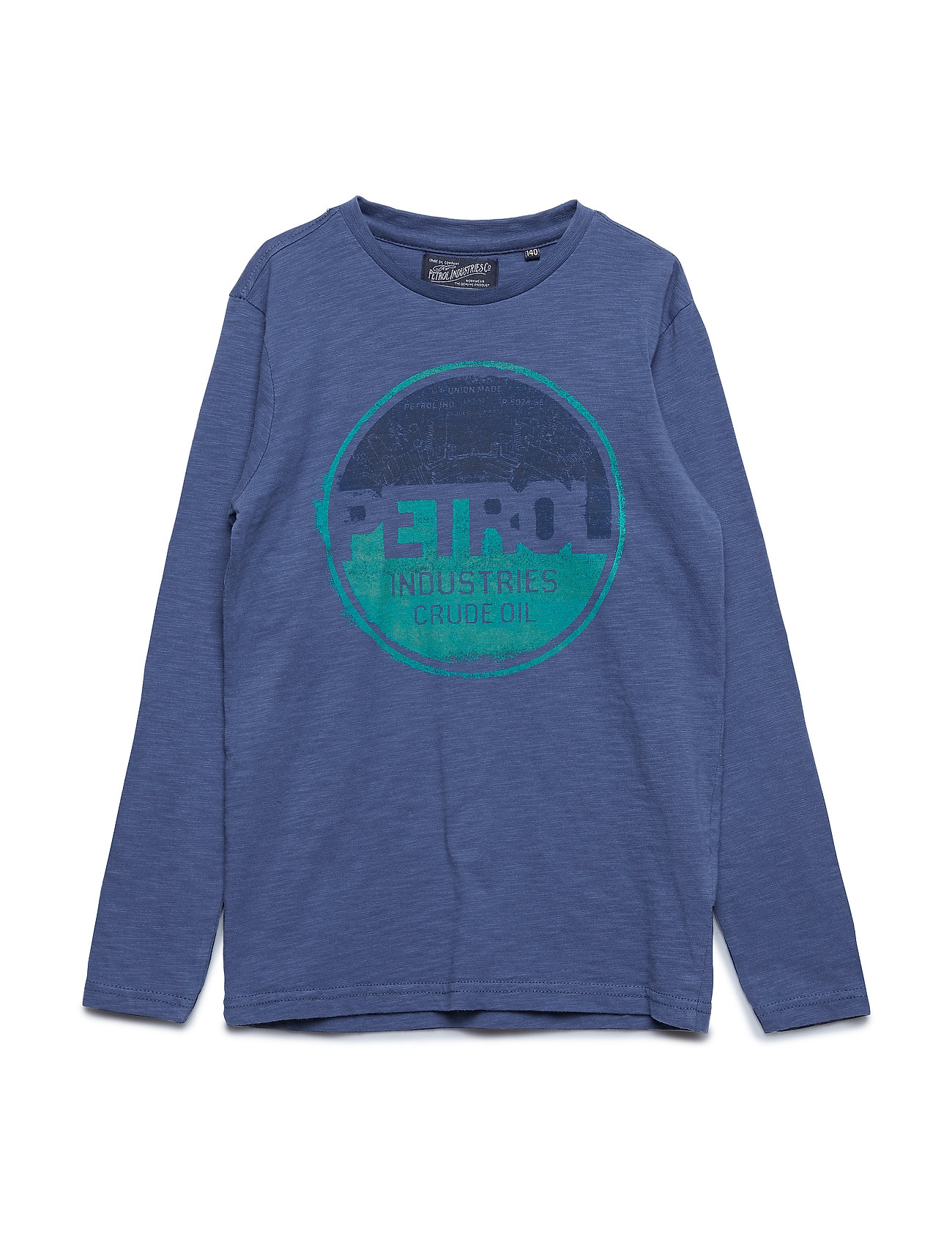 Petrol T-Shirt LS R-Neck - STONE BLUE